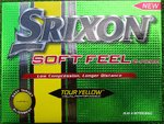 12  Srixon Soft Feel Golfbälle Tour Yellow