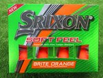 12 neue orange Srixon Soft Feel Golfbälle Orange Matt 2020